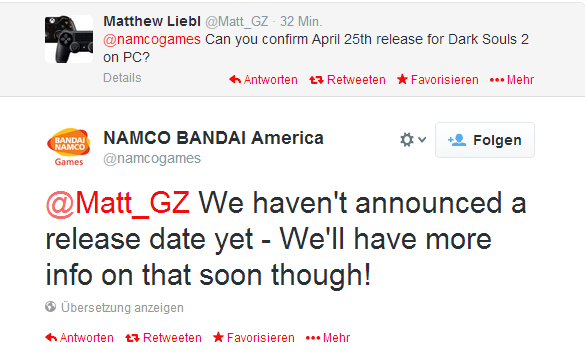 Dark Souls 2 Might be Coming out on Aprile 25th forPC